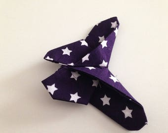 Butterfly origami stars purple white