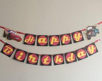 Disney Cars Banner, Lightning McQueen Banner
