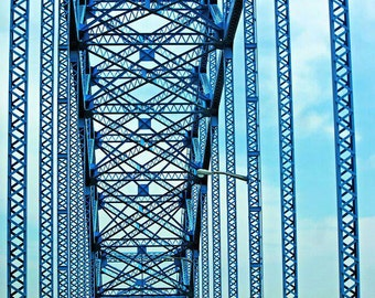 Bridge Print, Bridge Photo, Bridge Picture, Abstract Bridge Print, Landscape Print, Grand Island Bridge Print, New York Picture, Bridge