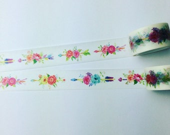 Floral arrow washi tape
