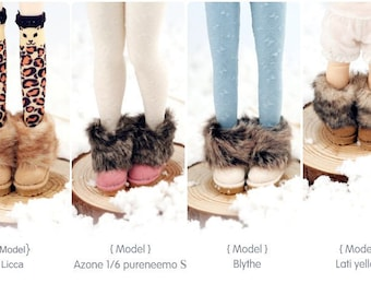 Handmade Short Snow boots shoes for Blythe/DAL/Pullip/Momoko/AZONE/JerryBerry/Lati_Y/Pukifee YOSD Doll Outfit Custom Doll Shoes Accessory