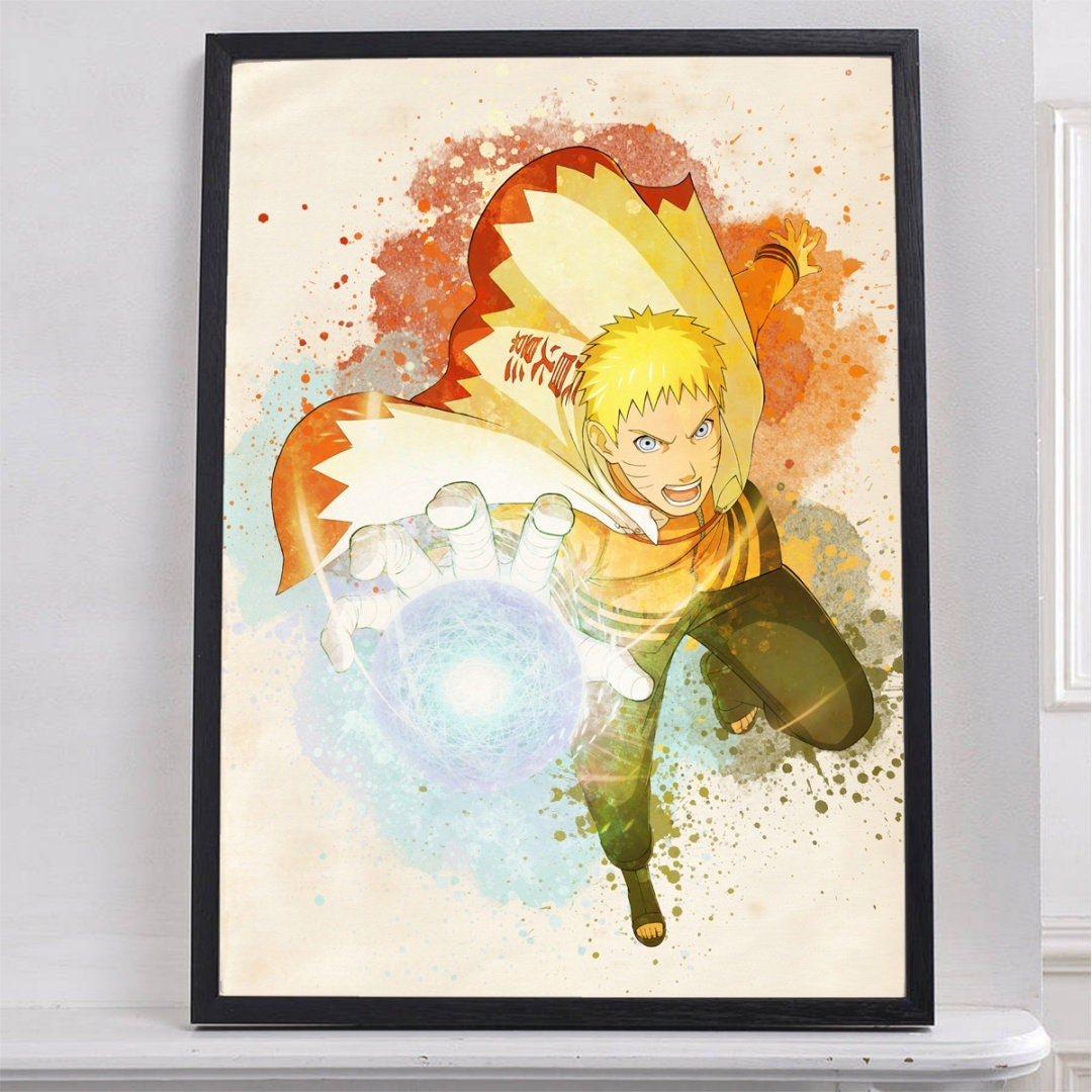 Hokage Naruto Print Poster Watercolor Wall Decor Gifts Office