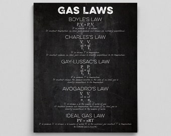 Science Teacher Classroom Decor, Chemistry Poster, Chemistry Teacher Gifts, Gas Laws Poster, Science Posters, Nerdy Home Decor, Class Gifts