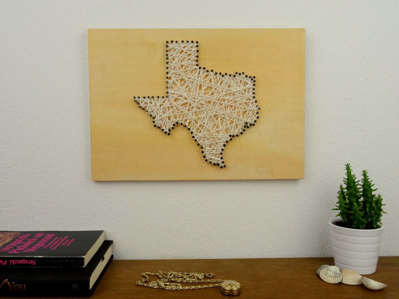 Texas Decal String Art Texas Small Art Texas State Map