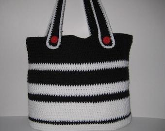 Stylish Crocheted Tote Bag, Large