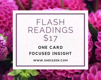 Flash Reading - One card, focused insight