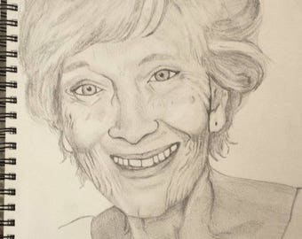 14X17 Custom Portrait in Pencil or Charcoal