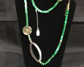 Emerald, Jade and Opal Beaded Necklace