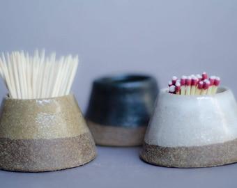 Ceramic Match Striker, Husband Gift, Mindfulness Gift, Handmade Pottery, Housewarming Gift, Match Holder,  Fire Striker, Housewarming