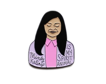 Mindy Kaling enamel lapel pin