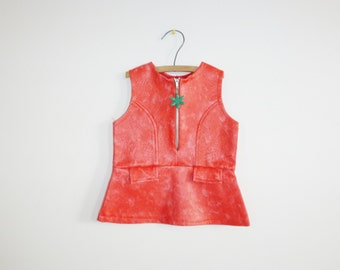 Vintage Faux Leather Baby Dress