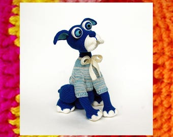 Amigurumi Dog Pattern. Crochet Dogs. Meditative Dog Butler. New Year Souvenir. DIY. Handmade puppy tutorial. Knitting kits pattern.