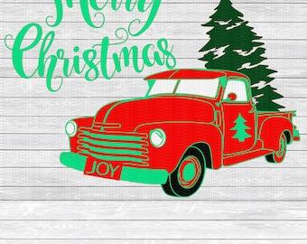 Christmas Truck, Merry Christmas, Christmas Svg,Dxf,Png,Jpeg