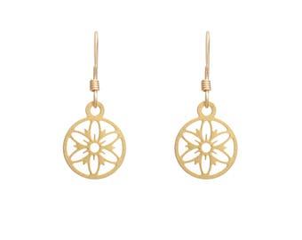 Delicate Mandala Earrings, urban earrings, jewelry, inspirational jewelry