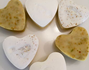 Heart Shaped Soap, Valentines Day, Handmade Soap, Organic Soap, Organic Handmade Soap, Valentines Day Soap, For Her, Valentines Day Gift