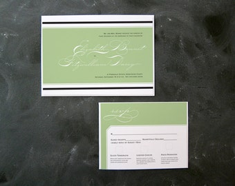 Elizabeth and Darcy- Classic Wedding Invitation and RSVP