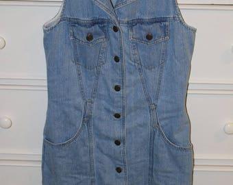 Vintage Sleeveless Denim Dress