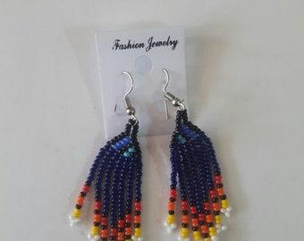 maasai earrings / tribal earrings / african earrings / beaded earrings