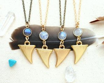 Mondstein Halskette Herren Hippie Schmuck Schutz Amulett Kristall Halskette Reisende Stein Goldkette böhmischen Schmuck Labradorit