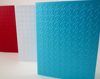 Houndstooth Card, Houndstooth Embossed Card, Blank Cards Hounds tooth, Embossed Card with Envelopes, Hound's tooth Pattern, A2 Note Cards