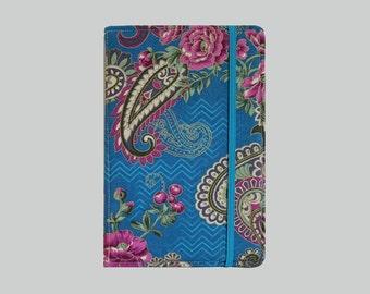 Kindle Cover Hardcover, Kindle Case, eReader, Kobo, Kindle Voyage, Kindle Fire HD 6 7, Kindle Paperwhite, Nook GlowLight Paisley Flower