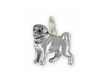 Pug Jewelry Sterling Silver Pug Charm Handmade Dog Jewelry PG44-C