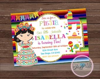 Fiesta Party Invitation, Fiesta Birthday Invitation, Fiesta Birthday Party Invitation, Fiesta Mexicana Invitation, Mexican Fiesta, Digital