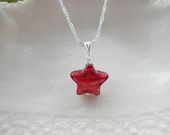 Small Murano Glass Star Necklace
