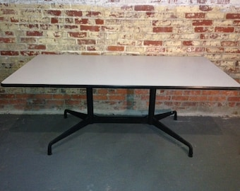 Eames table base etsy free shipping authentic herman miller segmented double base table base only beautiful original condition black aluminum finish greentooth Gallery
