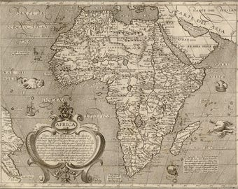 Poster, Many Sizes Available; 1600 Map Of Africa