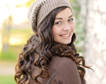 Crochet Slouchy Beanie Hat / Women's Slouchy Hat / Women's Winter Hat / Slouch Hat / Slouch Beanie / Fall Fashion / Boho Fashion