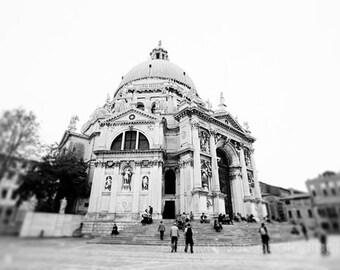 Venice, Italy, black and white europe photography, architecture, church decor, basilica, europe art , Santa Maria della Salute V29