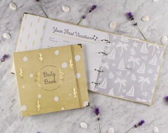 BABY MEMORY BOOK | baby keepsake book | binder memory book | Journals and Albums | modern baby book | Gender Neutral Baby baby shower gift