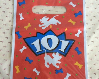 Vintage Disney 101 Dalmatians Party bags, 101 Dalmations Candy Bags, Treat sacks