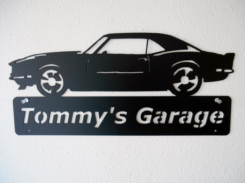 pin garage sign personalized signs hot rod