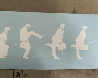 """Minister of Silly Walks Decal - Monty Python's Flying Circus - 24"""" x  4"""""""