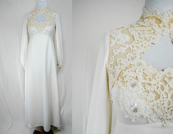 1960s/70s House of Bianchi Bridal Gown // Victorian Revival