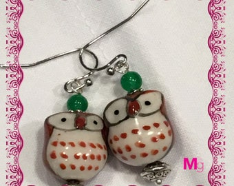 Whimsical Owl Earrings