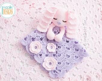CROCHET PATTERN - Sunny the Sleepy Bunny Lovey Crochet PDF Pattern with Instant Download