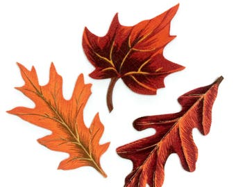 FALL LEAVES, MAGNETS, Set of 3, Harvest Time, Colorful Leaves, Leaf Magnet, Thanksgiving, Fall Decor, Autumn, Harvest Decor, Autumn Leaves