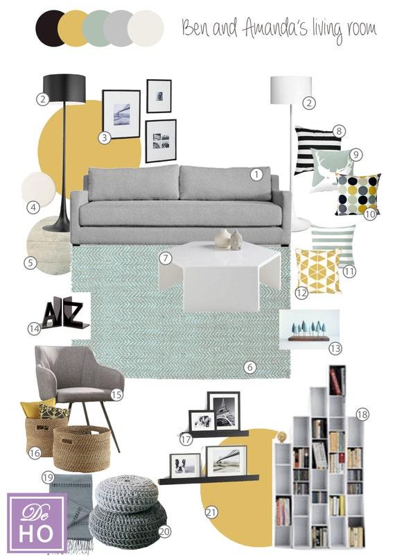 Interior Design Service online eDesign Complete Living Room