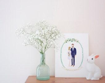Custom Couple Illustration Gift Idea