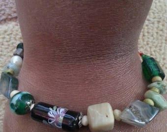 Handmade OOAK #16 beaded bracelet
