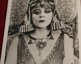 "Head Shot of Theda Bara from the Original Negative.  From the Film ""Cleopatra"", Silent Film Actress, 1917 Film, Hollywood"