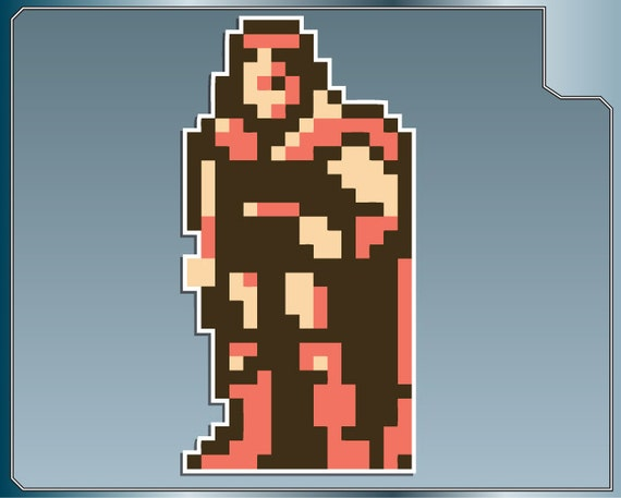 Trevor Belmont Sprite No 2 Vinyl Decal From Castlevania Car