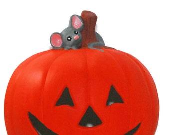 Pumpkin with mouse Halloween decor,MPHD20