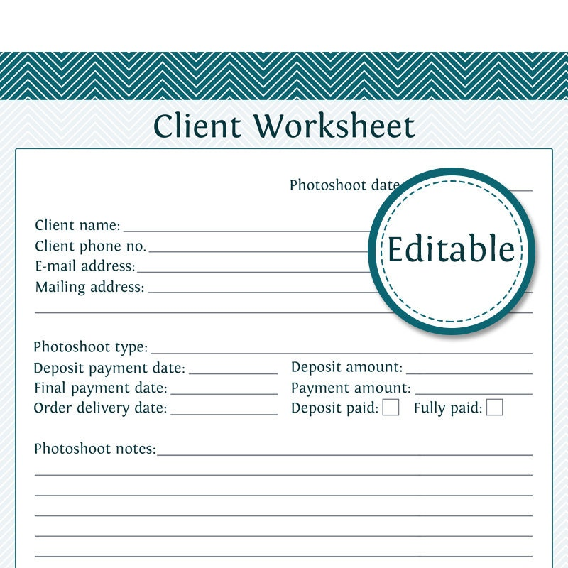 client information template