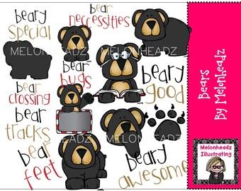 Bears clip art - COMBO PACK