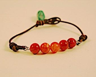 Fire Agate Lasso Bracelet