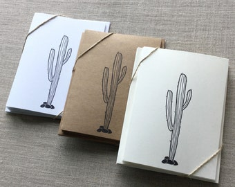 Set of 6 Cactus Cards, cactus card set, cactus note cards, blank cactus cards, greeting cards, succulent cards, thank you cards